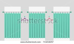 Fitting Room Curtains Row Fitting Rooms Curtains Fashion Shop Stock Vector 713219257