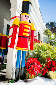 life sized nutcracker soldier made from buckets pvc pipe flower