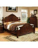 furniture of america cm7952n velda ii traditional brown cherry