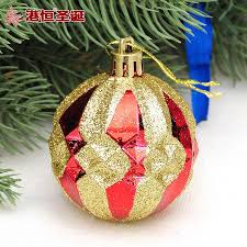 factory wholesale hong kong hang christmas tree ornament 6cm gold