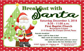 breakfast with santa in corpus christi corpus christi fun for kids