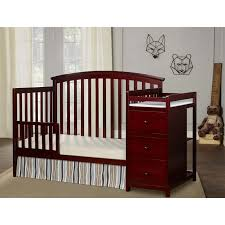 Changing Table Crib Combo On Me Niko 5 In 1 Convertible Crib And Changer Combo