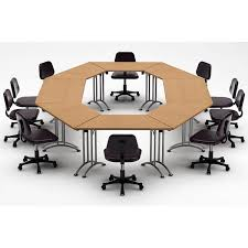 Circular Meeting Table Team Tables Meeting Seminar 8 Piece Combo 15 U0027 Circular Conference