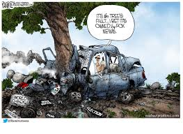 wrecked car the car wreck michael p ramirez