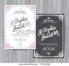chalkboard wedding program template wedding invitation vintage card wedding invitation stock vector