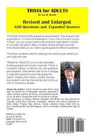 trivia for adults joe b hewitt 9781481813419 amazon com books