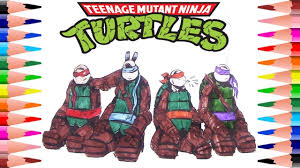 coloring teenage mutant ninja turtles coloring book for kids