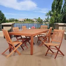 coronado rectangular dining table amazonia coronado 7 piece eucalyptus rectangular patio dining set sc
