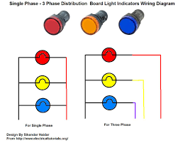distribution board lights indicator wiring diagram for single