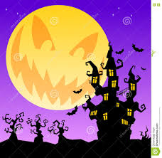 scary halloween background scary halloween background with castle trees and horrible moon