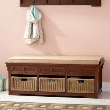 Bench With Storage Baskets by 53