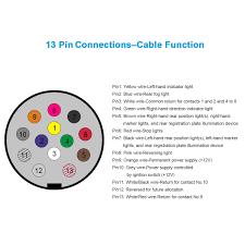 car truck short 13 pin euro to 7 pin 12n 12s socket adapter