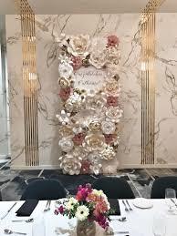 Wedding Flowers Houston Paper Flowers Paper Flower Backdrop Wedding Decor Retirement