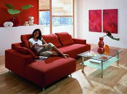 red sofas in living room luxury home design ideas