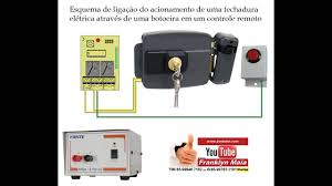 Basta Franklyn Maia em - Ligação de fechadura elétrica em receptor e  &SJ71