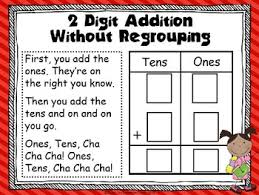 addition with and without regrouping 2 digit addition without regrouping song center by door to common