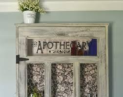 distressed wood medicine cabinet vintage apothecary cabinet 27 x 45 medicine cabinet distressed