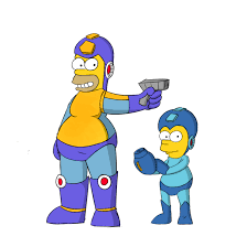 Homer Mega Homer And Rock Bart By Mariobros123 On Deviantart