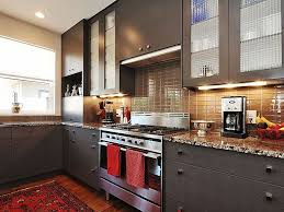 modern earth tone kitchen with red accents kitchen pinterest