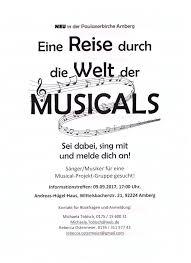 Haus Gesucht Eine Reise Durch Die Welt Der Musicals Paulanerkirche Amberg