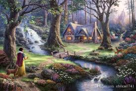2018 snow white discovers the cottage kinkade forest