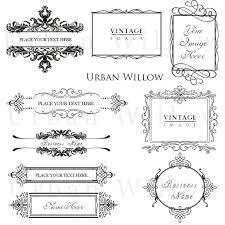 ornamental vintage frames pack 7 digital vintage style