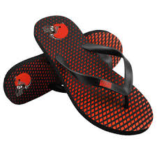 cleveland browns sandals browns flip flops nflshop com