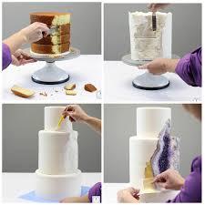 how to make a cake step by step to make a geode cake