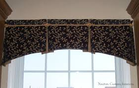 Curtain Box Valance Box Pleated Valance With Arched Bottom Newton Custom Interiors