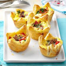 quiche pastry cups recipe taste of home