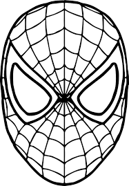 drawn spider man mask pencil and in color drawn spider man mask