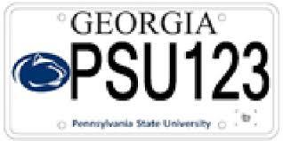 penn state alumni license plate penn state atlanta penn state license plates auction