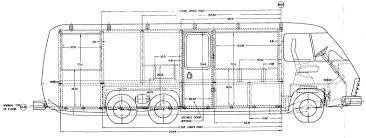 gmc motorhome blueprint classic gmc motorhome pinterest gmc
