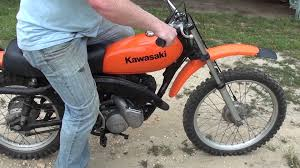 classic motocross bikes for sale kawasaki kd 125 2 stroke dirtbike youtube