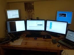 Desk For Dual Monitor Setup Ergonomics How Do You Position Your Dual Monitor Setup Quora