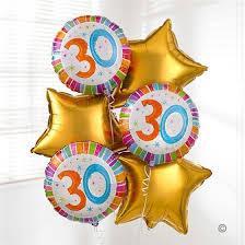 birthday balloon arrangements 30th birthday balloon bouquet fba flowers