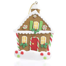 polymer clay gingerbread house ornament ornaments