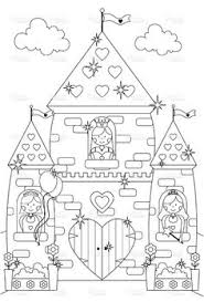 castle coloring pages fairy tale coloring pages