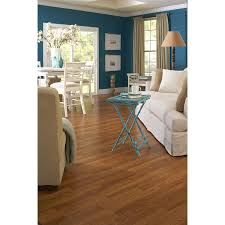 Style Selection Laminate Flooring Shop Style Selections 8 07 In W X 3 97 Ft L Toffee Oak Embossed
