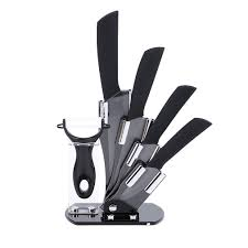 ceramic knife set kitchen knives modern block 6 piece chef cutlery