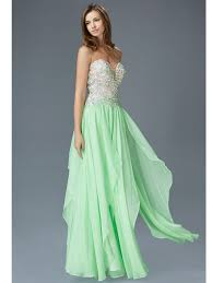 light green dress with sleeves embellished bodice strapless prom dress sung boutique l a