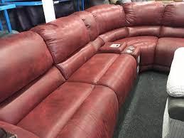 leather corner recliner sofa new ex display guvnor cornerelectric recliner sofa media apple