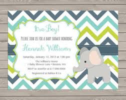 baby boy shower invitations elephant baby shower invitation boy chalkboard baby shower