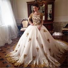 gold wedding dresses wedding dress with gold beading