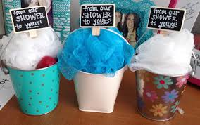 prizes for baby shower games mini buckets filled with loofa body