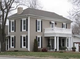 taupe house black trim google search town point pinterest