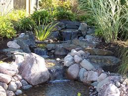 waterfalls in backyard ponds backyard koi fish pond outdoor