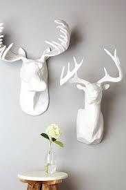 wall ideas deer head wall decor diy deer head wall decor ireland