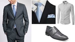 Mens Formal Wear Guide Charcoal Suit Suitable For Casual And Formal Wear