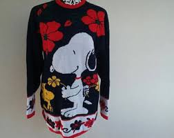 snoopy sweater etsy